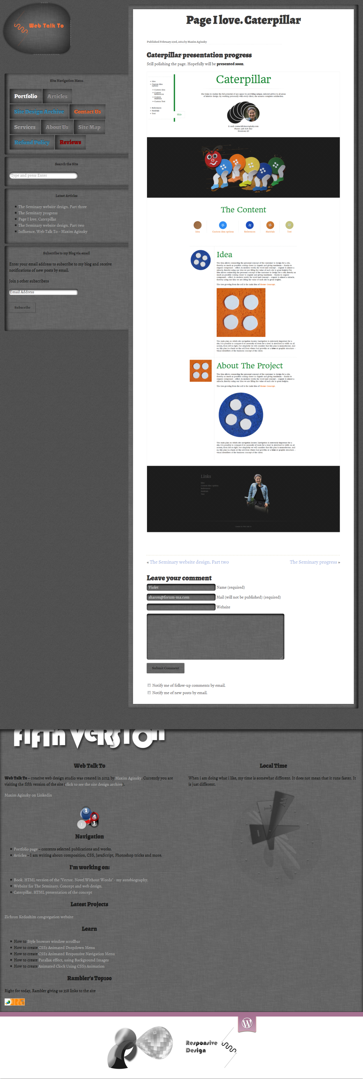 Web Talk To site design version 5